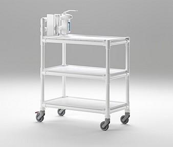wäschewagen krankenhaus kunststoff